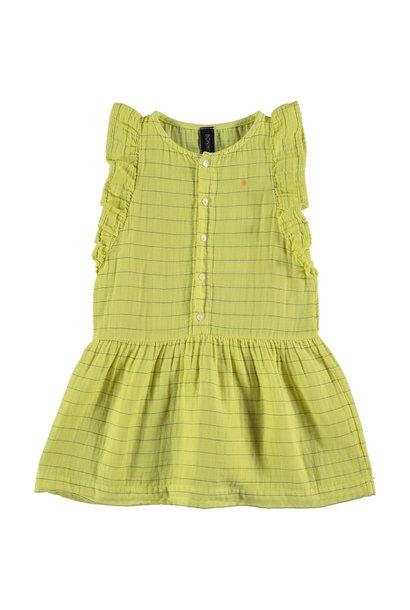 Dress frill stripes dot sunshine yellow kids