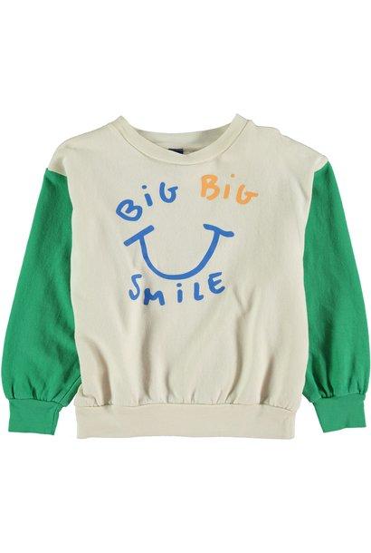 Sweatshirt big smile green kids