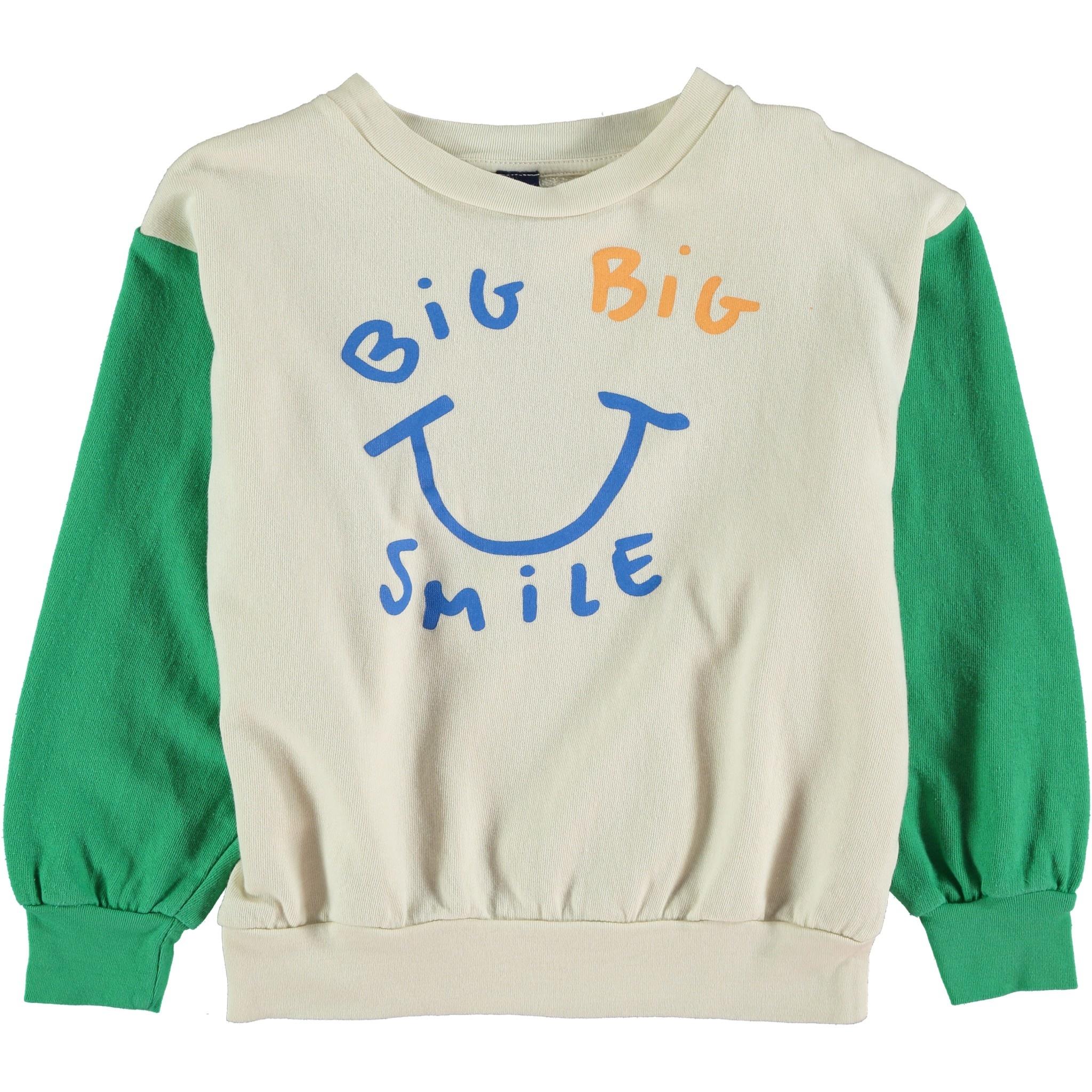 Sweatshirt big smile green kids-1