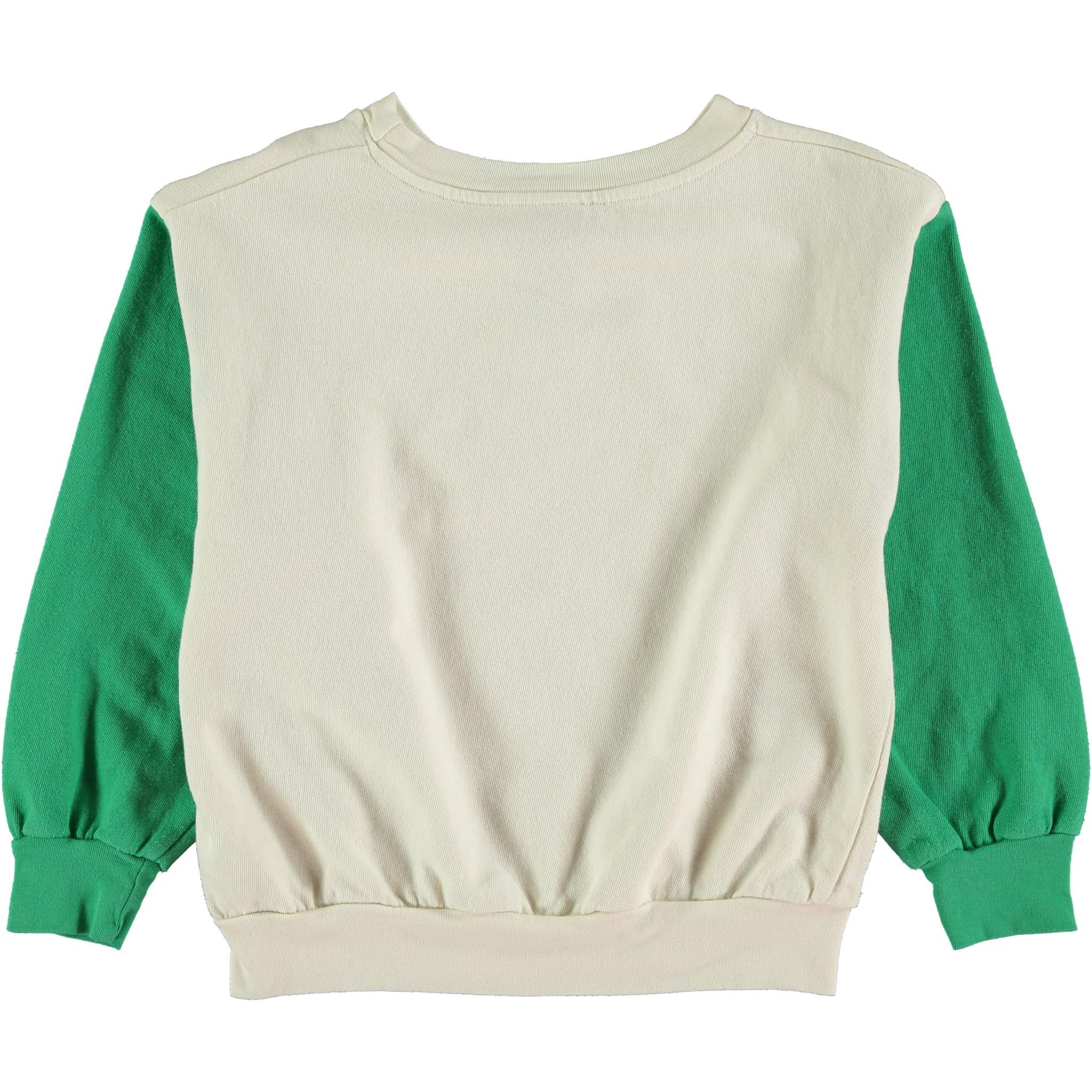 Sweatshirt big smile green kids-2