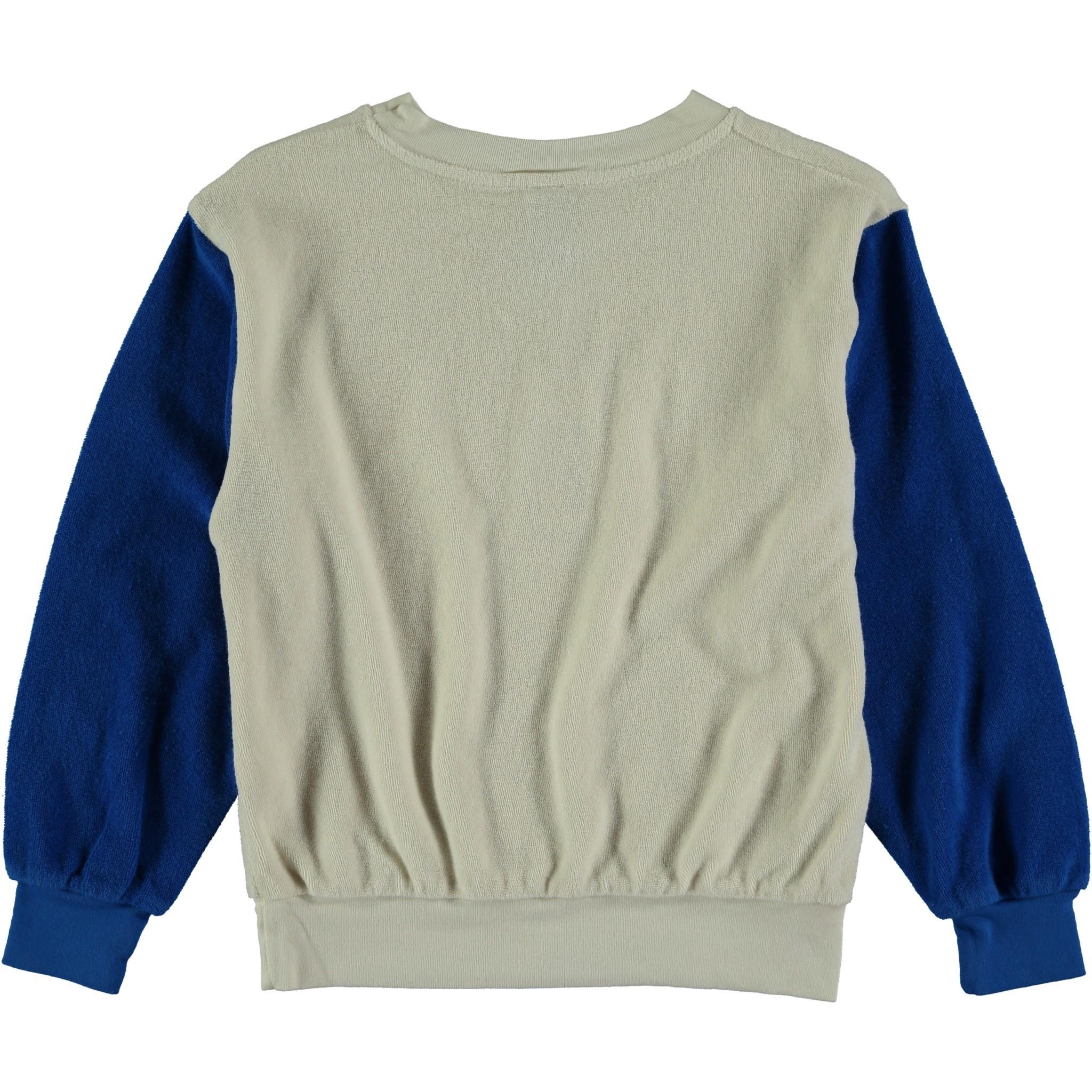 Sweatshirt terry bonmot ivory kids-2