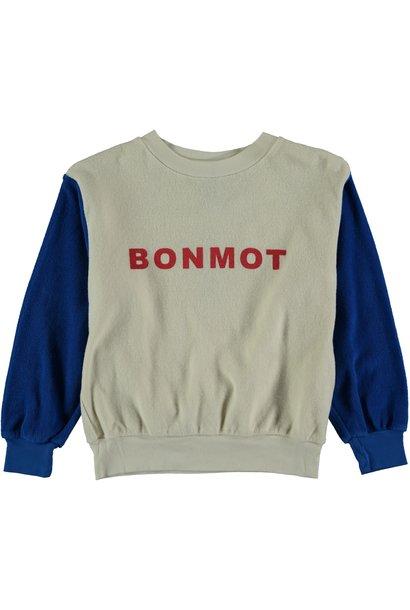 Sweatshirt terry bonmot ivory kids