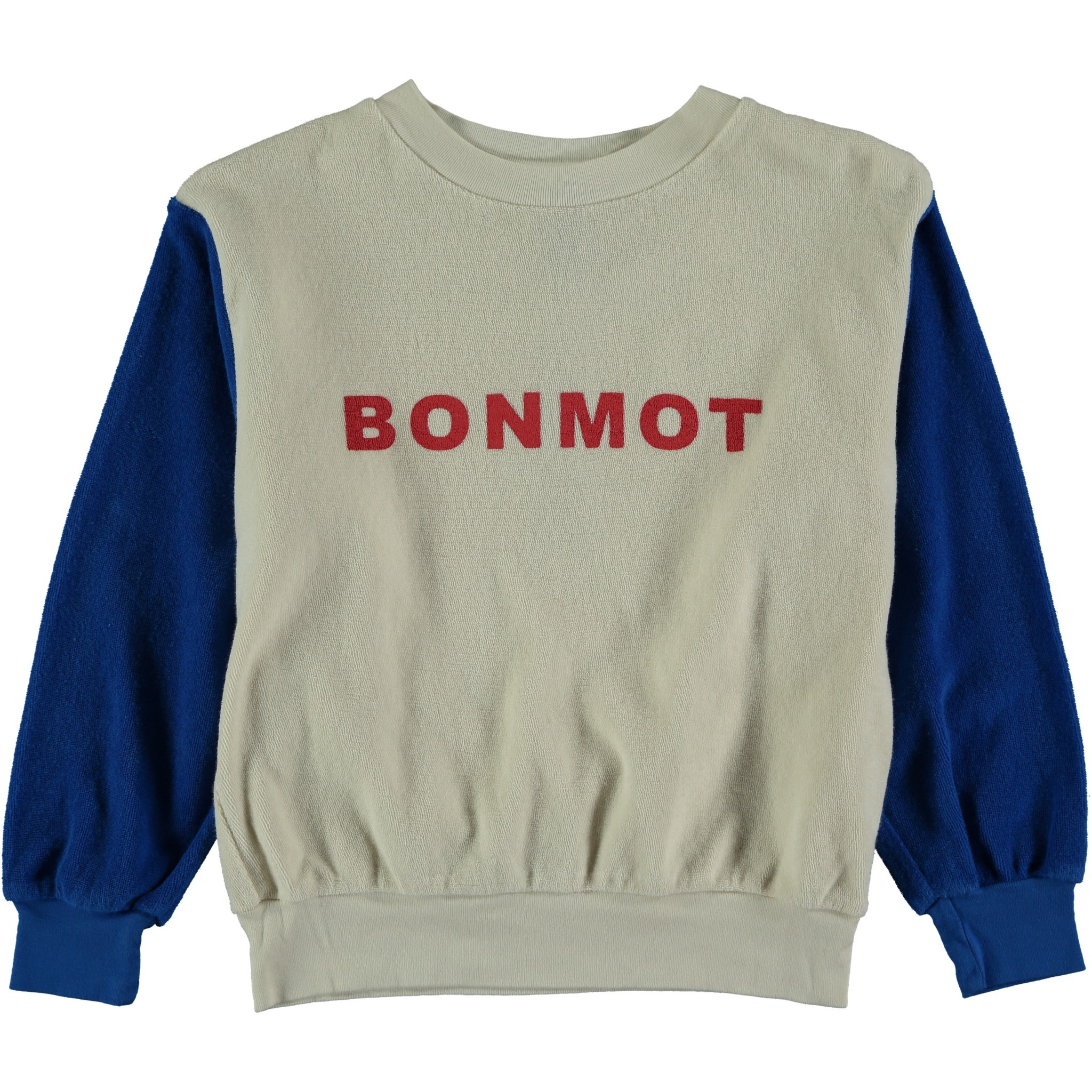 Sweatshirt terry bonmot ivory kids-1