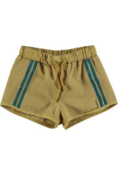 Swim short lateral stripe mustard kids
