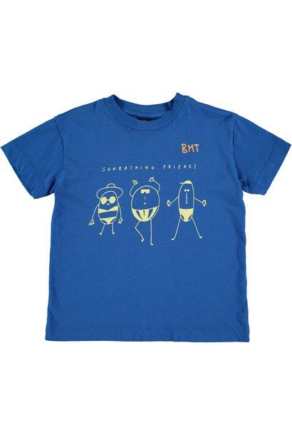 T-shirt sunbathing fresh blue kids