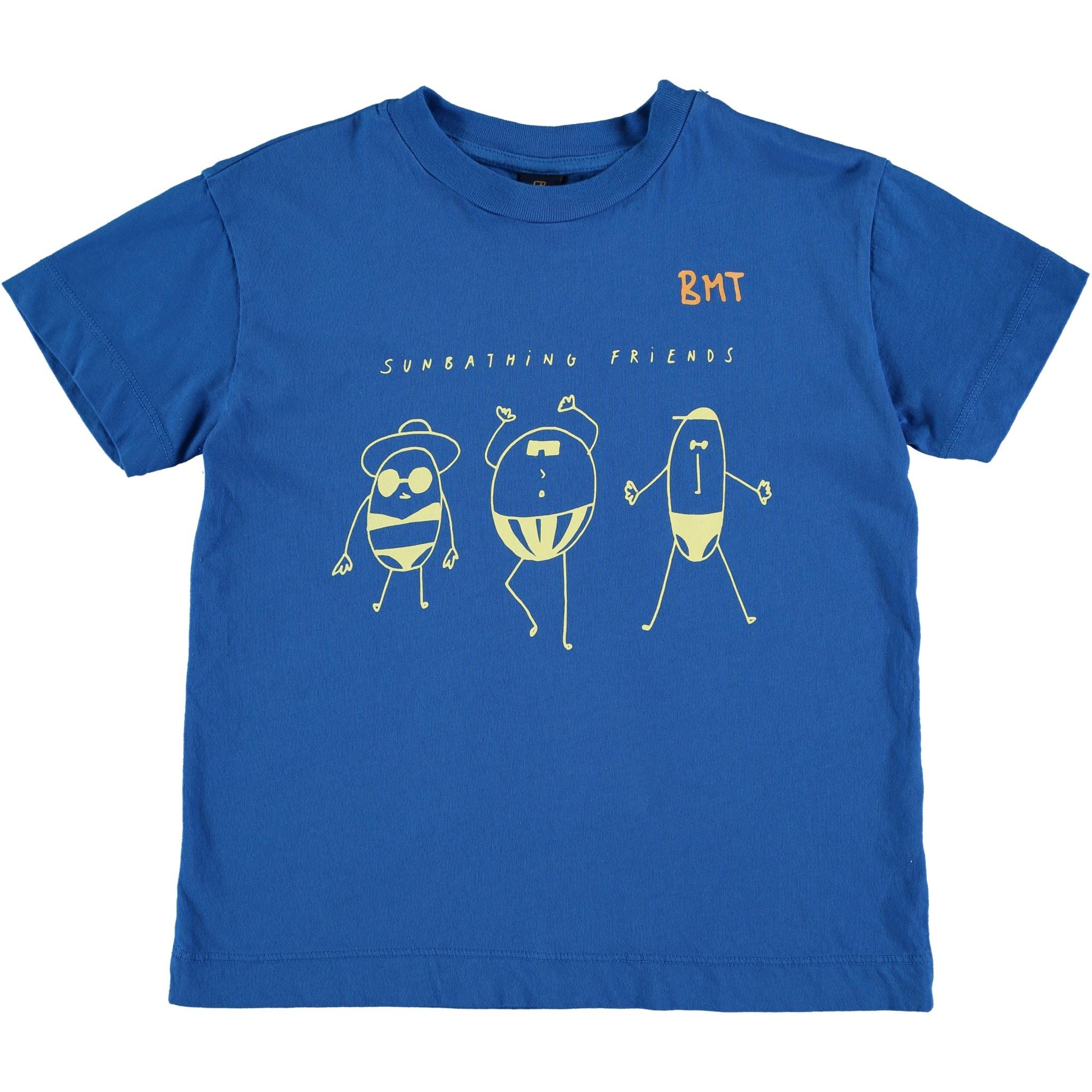 T-shirt sunbathing fresh blue kids-1