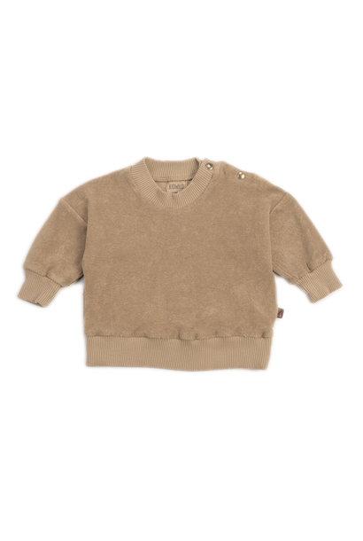 Organic terry sweatshirt fawn