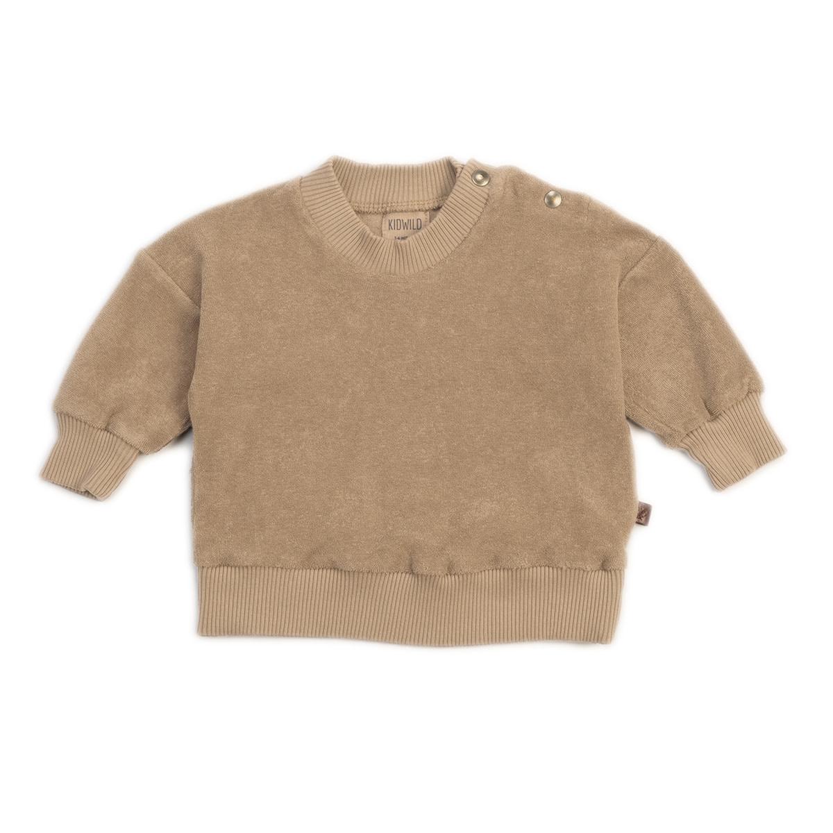 Organic terry sweatshirt fawn-1