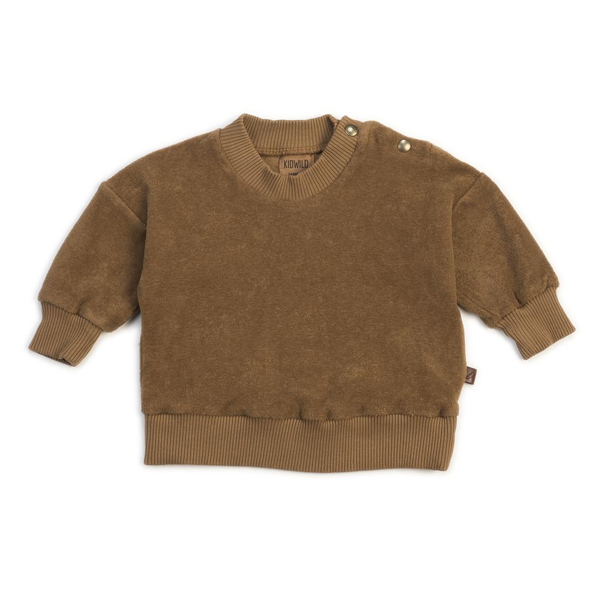 Organic terry sweatshirt brick-1