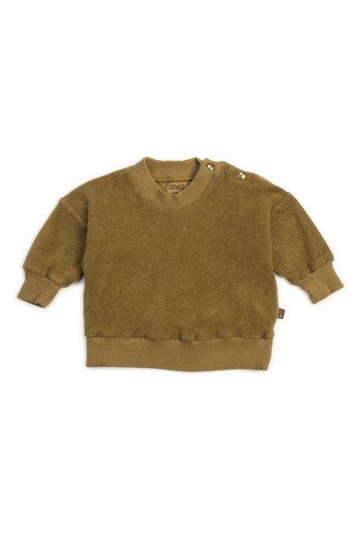 Organic terry sweatshirt olive