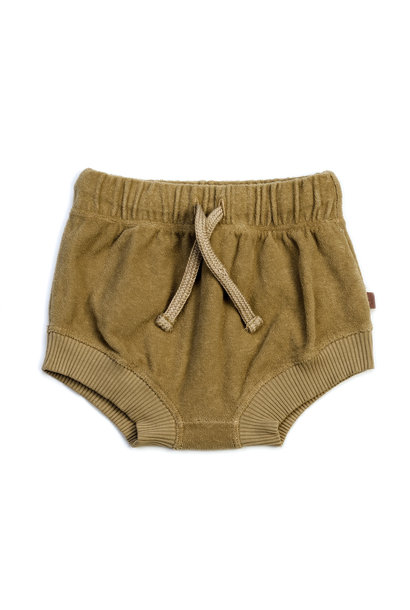 Organic terry bloomers olive
