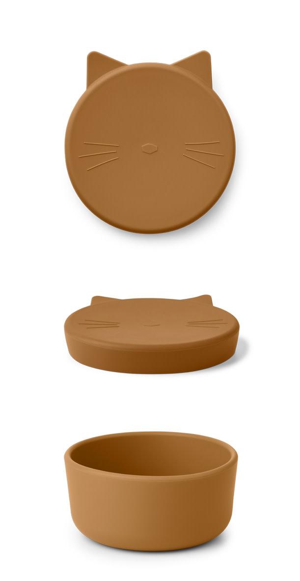 Cornelius snack box medium cat mustard-1