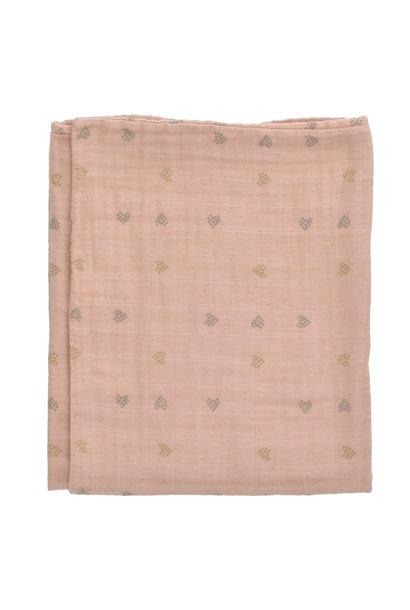 Buckley blanket 100X140 terra hearts