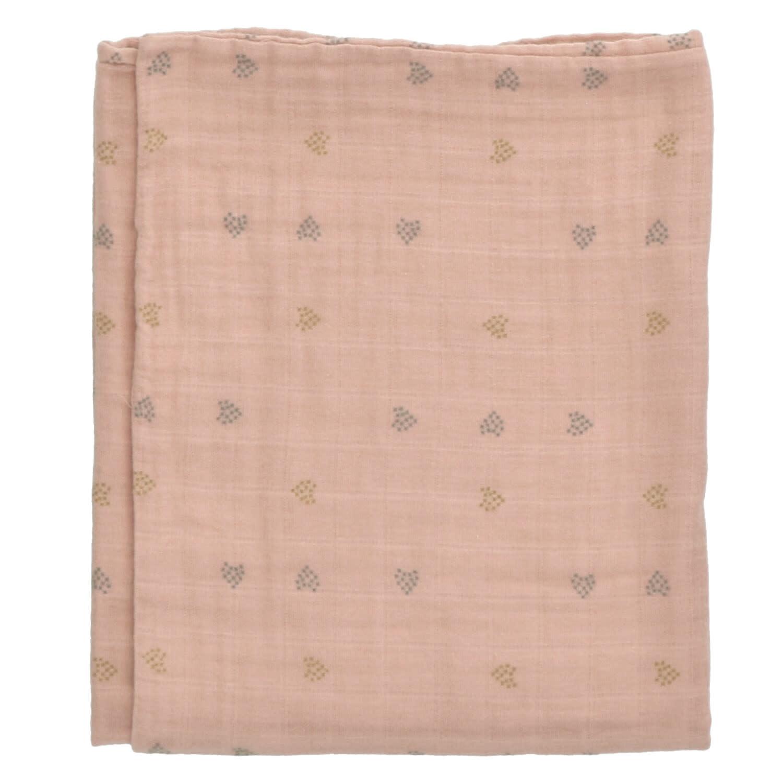 Buckley blanket 100X140 terra hearts-1