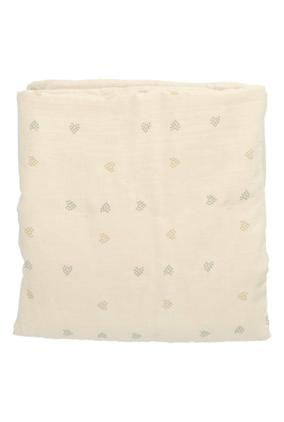 Baez blanket 70X90 blossom/blossom hearts