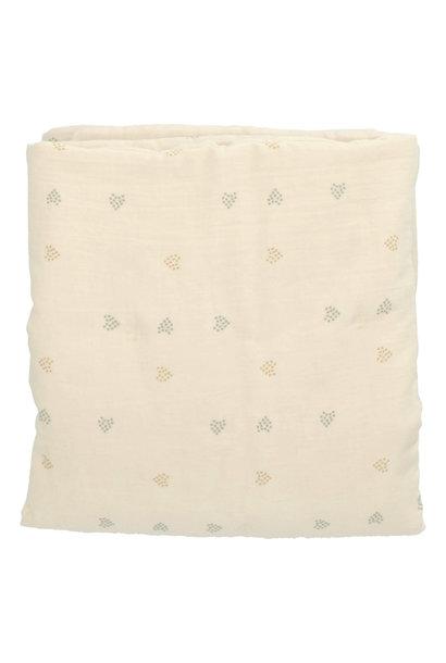 Baez blanket 100X140 blossom/blossom hearts