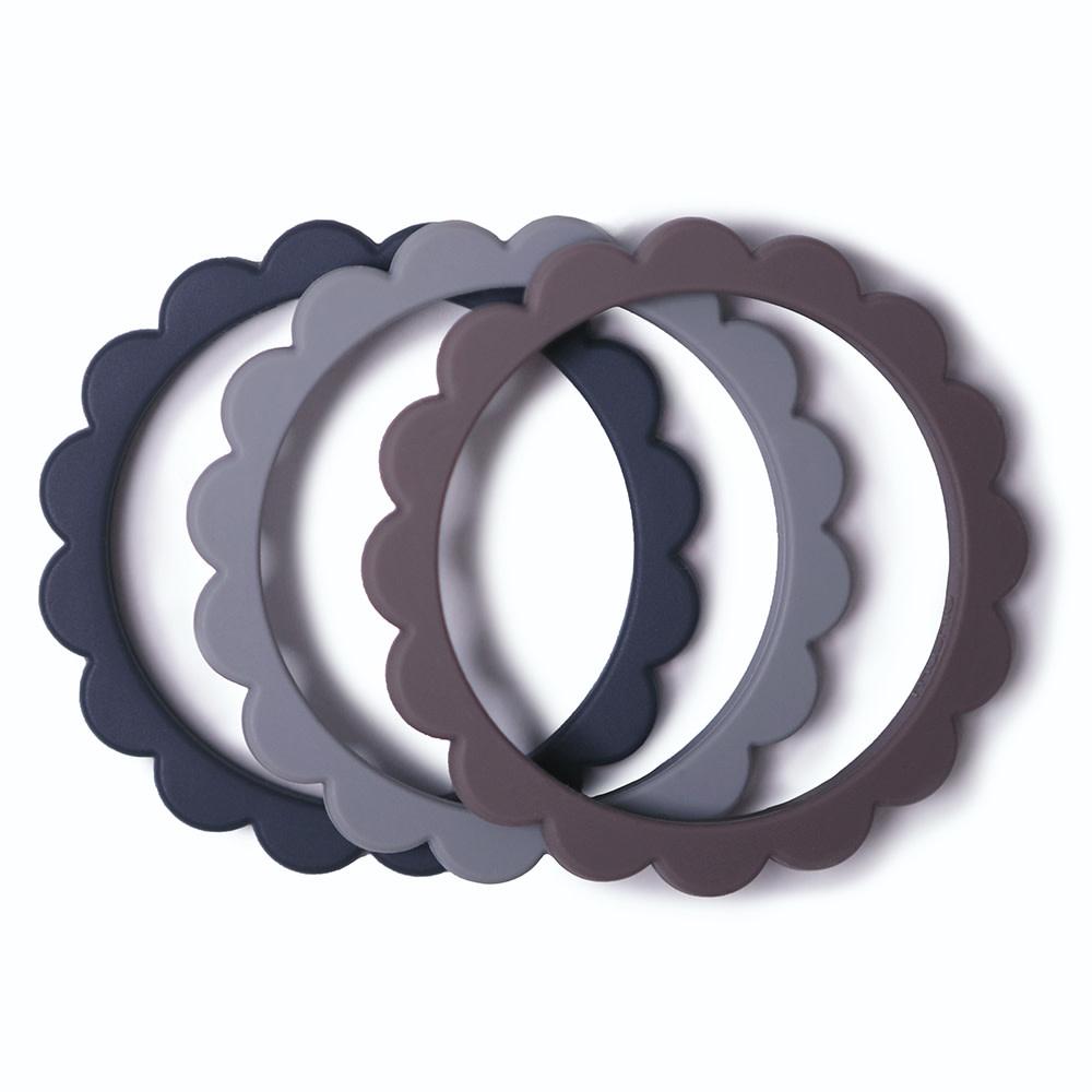 Flower bracelet teether steel/gray/stone-1