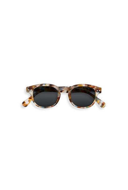 SUN #C junior 5-10Y blue tortoise soft grey lenses
