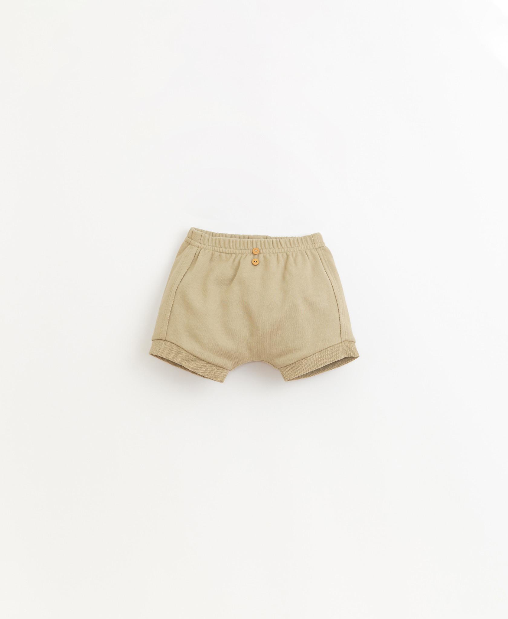 Fleece shorts-1