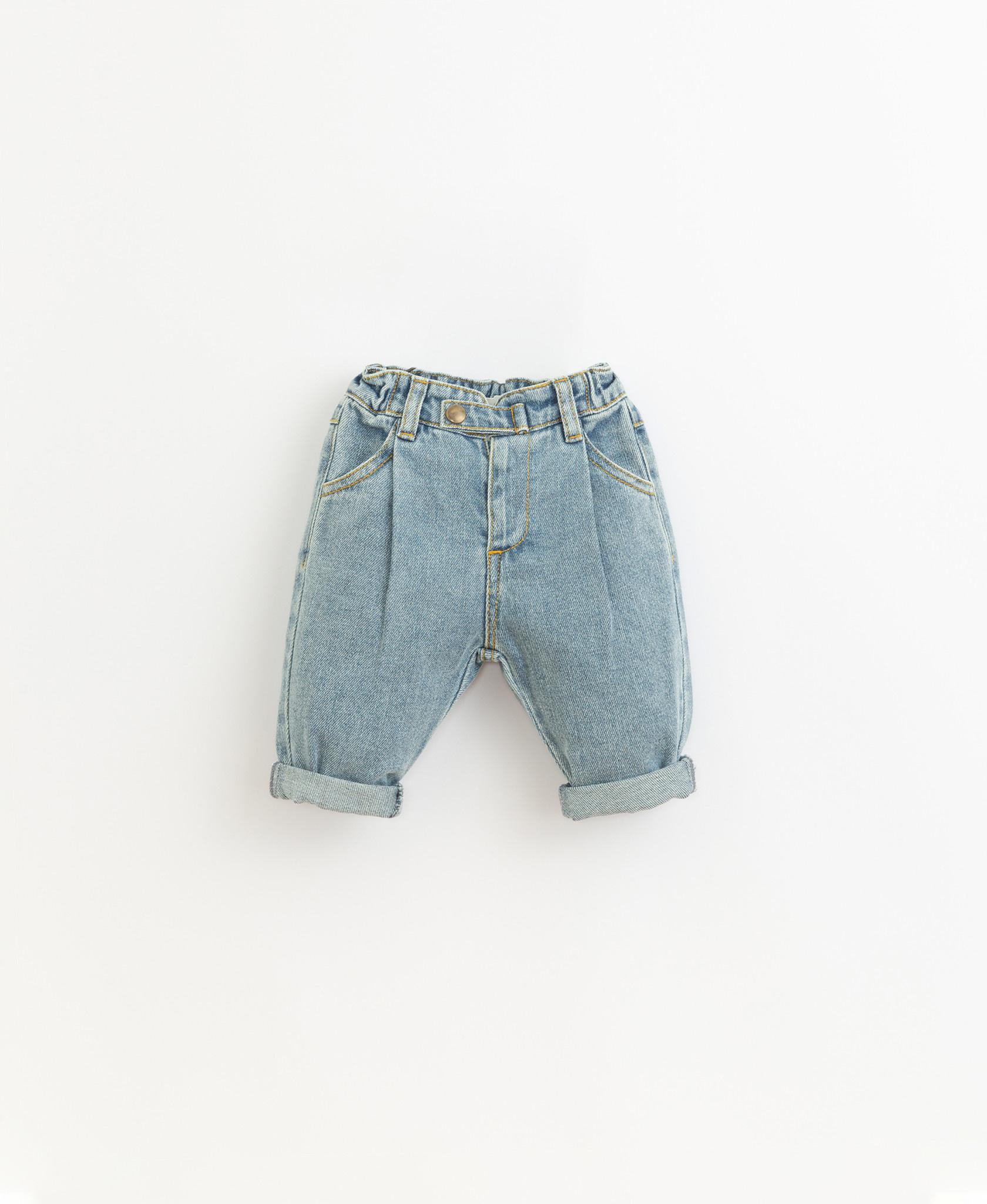 Denim trousers-1