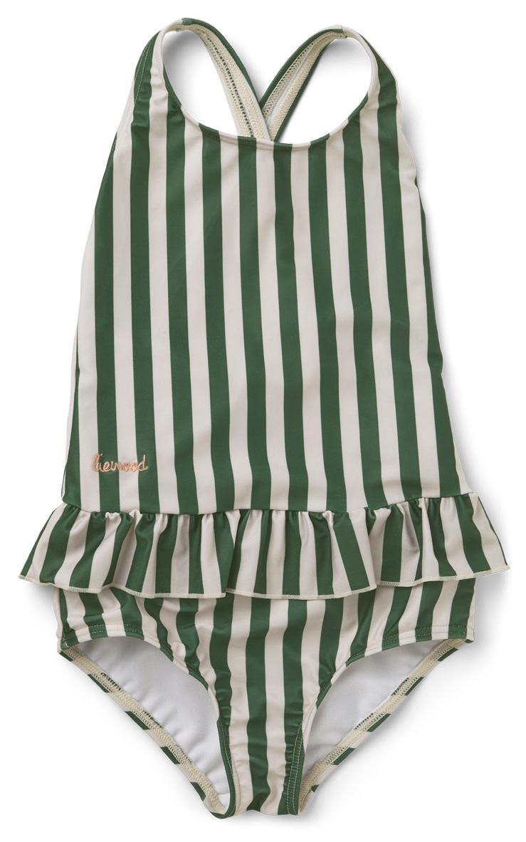 Amara swimsuit garden green/sandy stripe-1