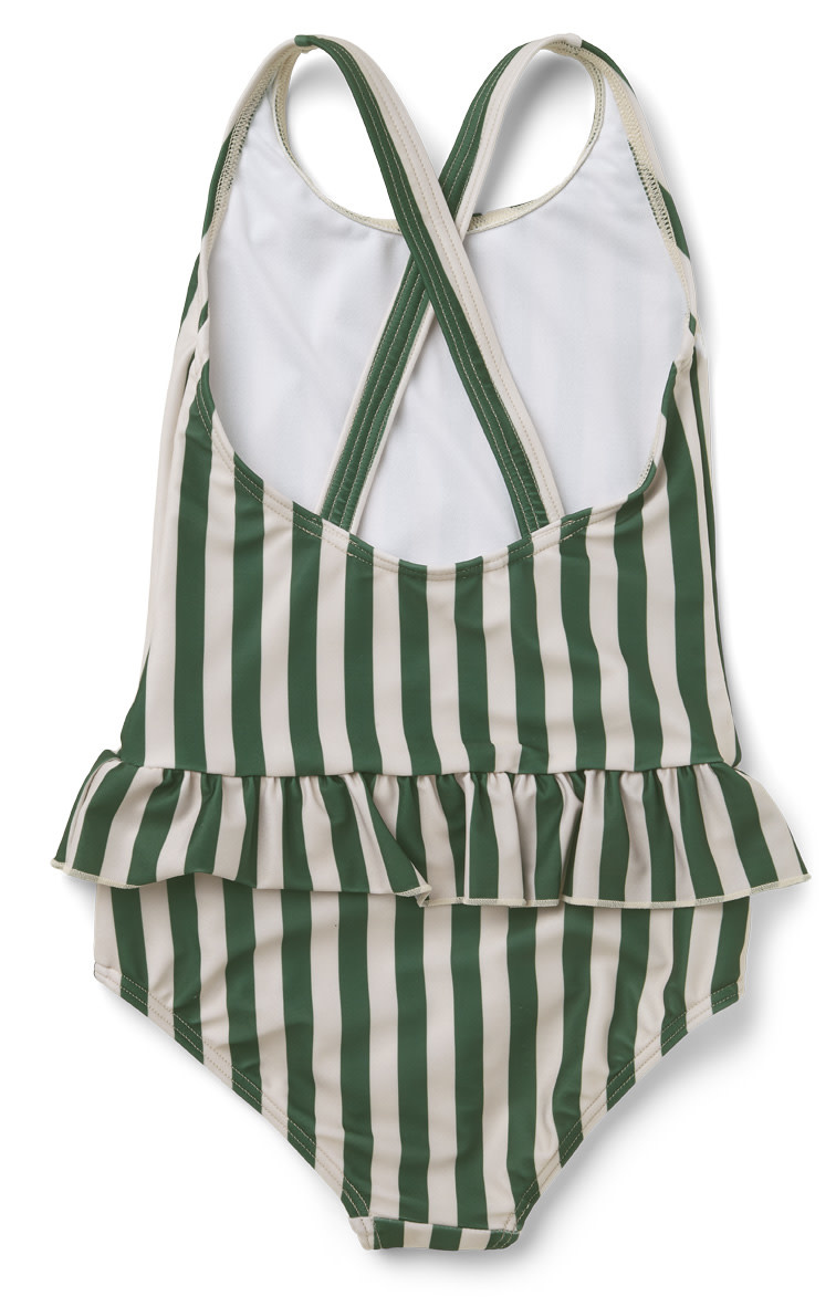 Amara swimsuit garden green/sandy stripe-2