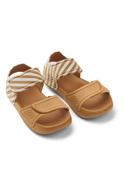 Blumer sandals mustard/sandy stripe