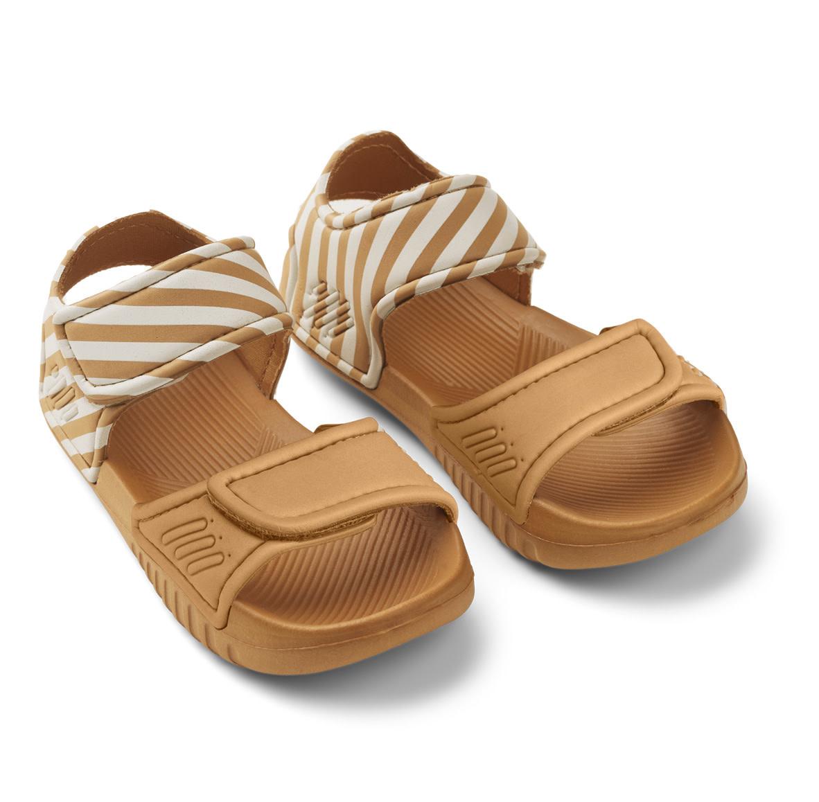 Blumer sandals mustard/sandy stripe-1