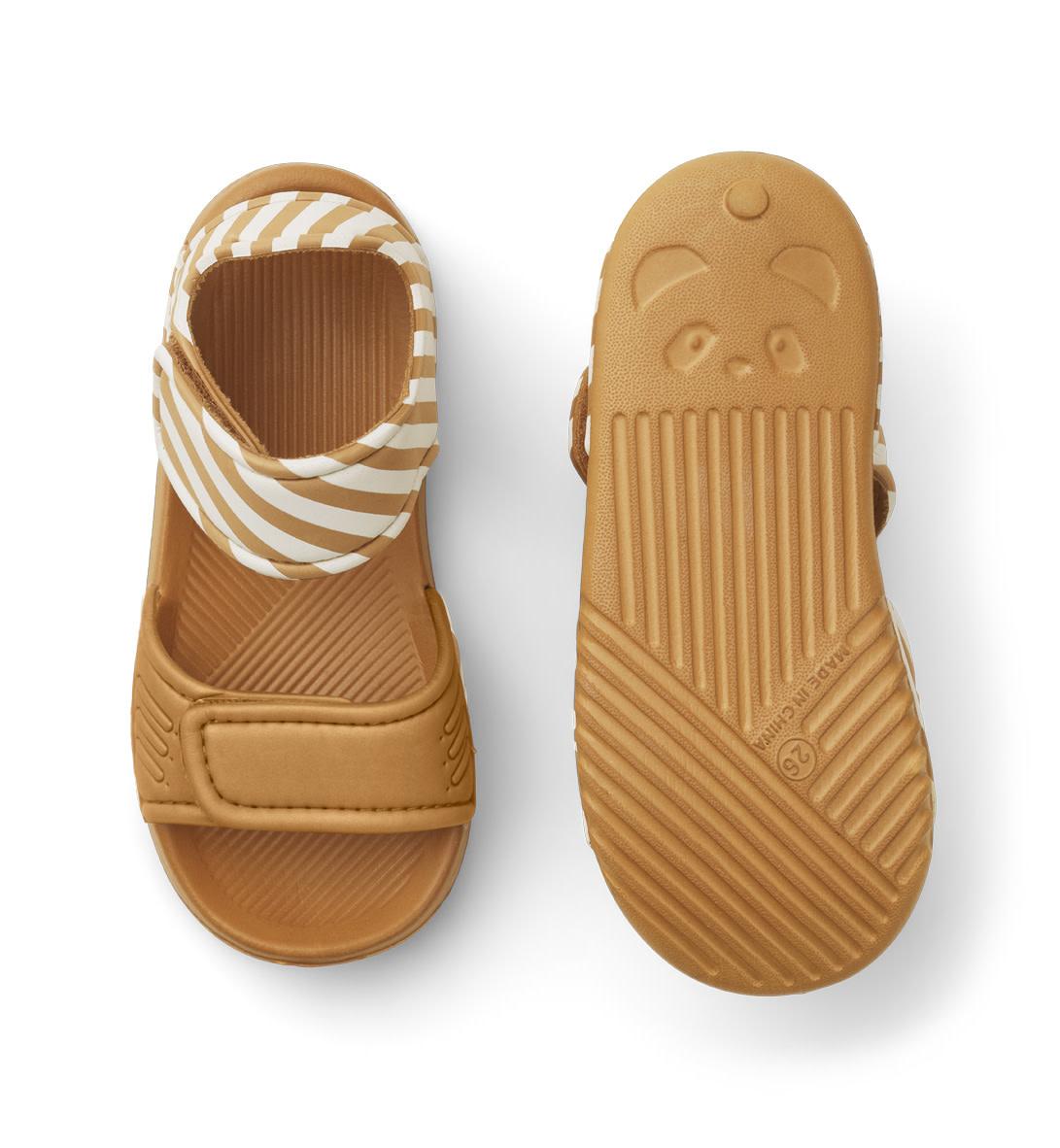 Blumer sandals mustard/sandy stripe-2
