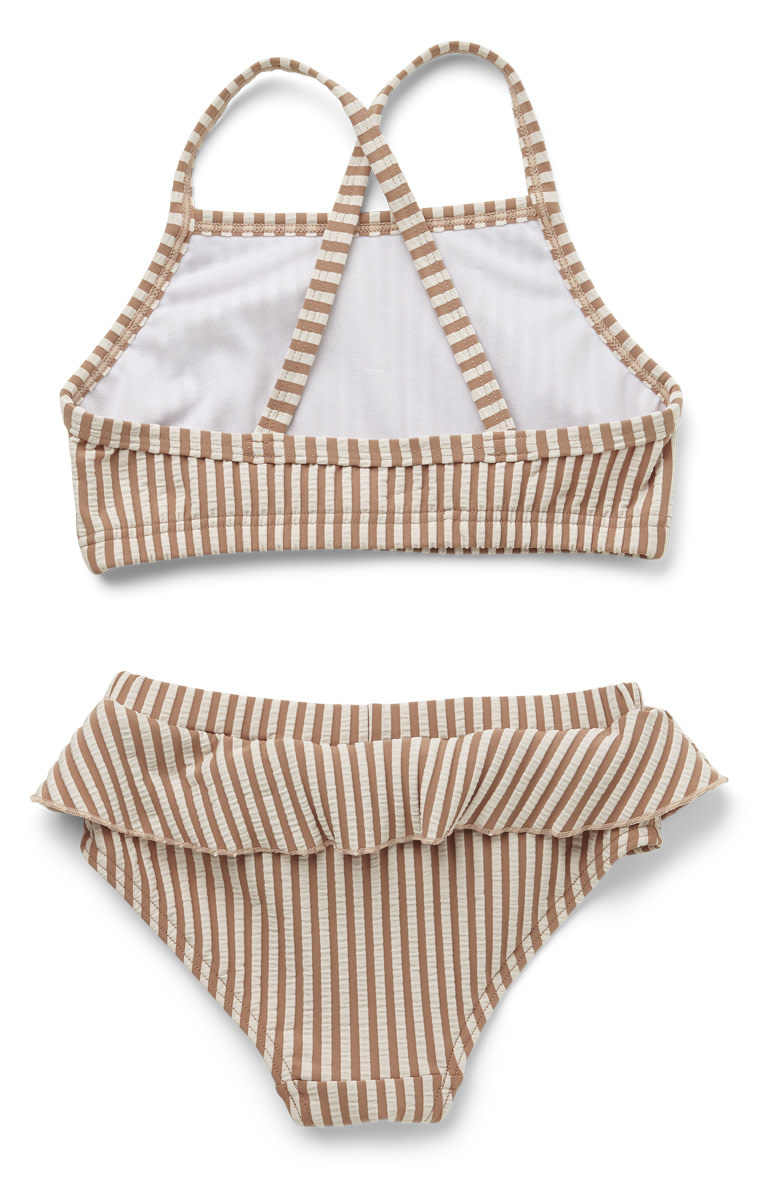 Norma bikini set seersucker tuscany rose/sandy stripe-2