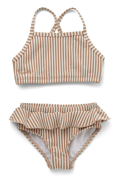 Norma bikini set seersucker tuscany rose/sandy stripe
