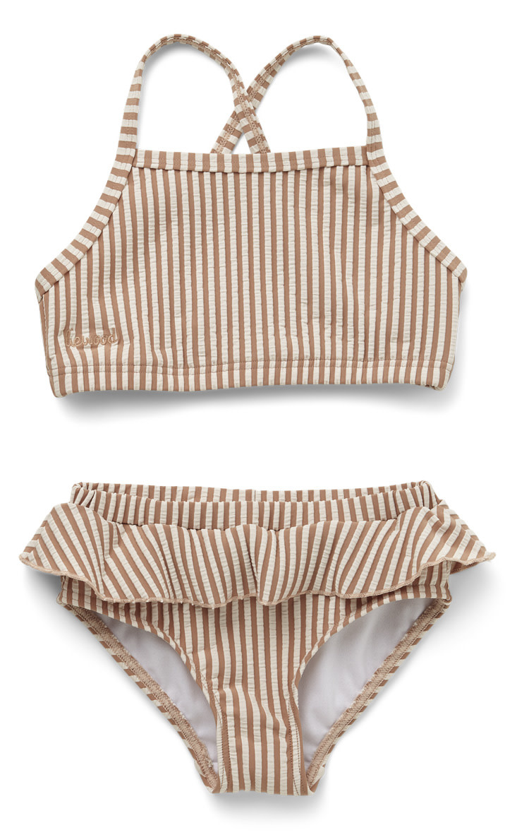 Norma bikini set seersucker tuscany rose/sandy stripe-1