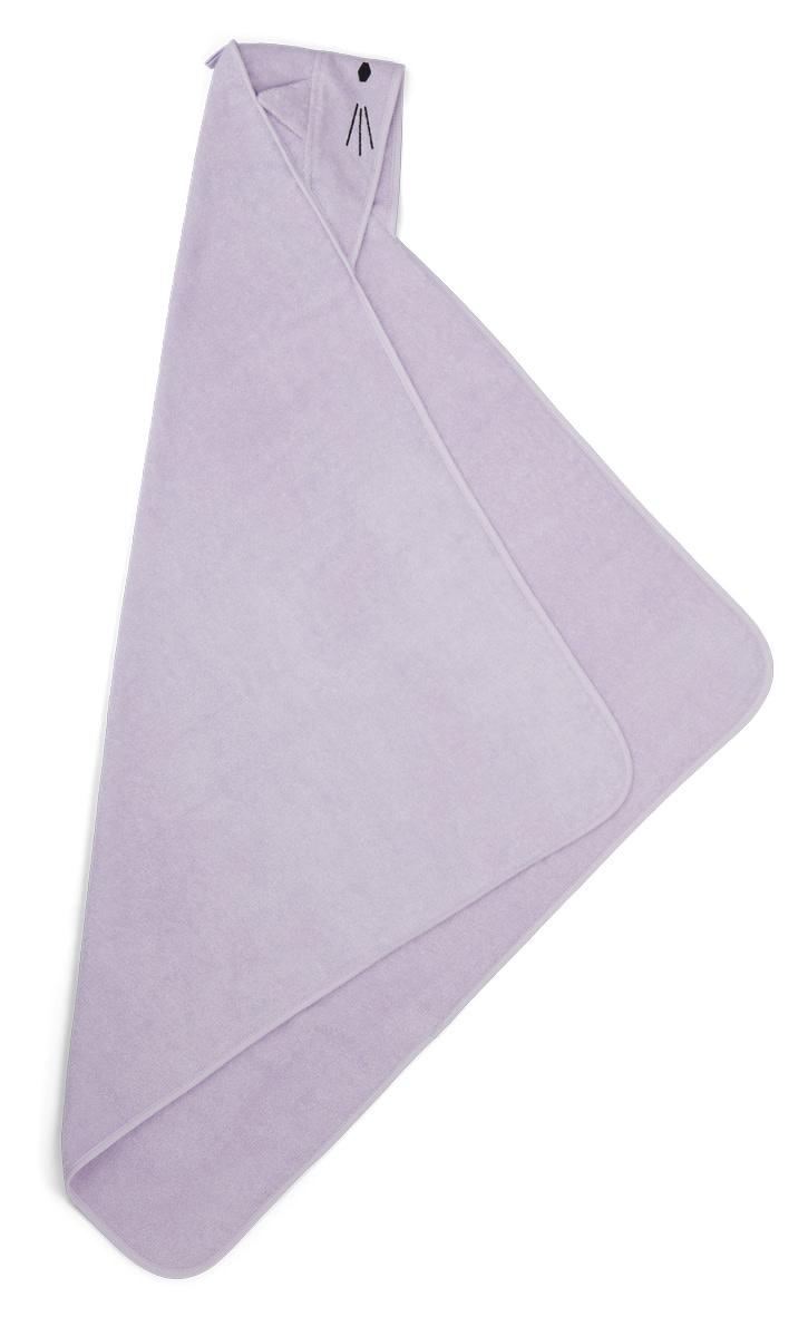 Augusta hooded towel cat light lavender-2