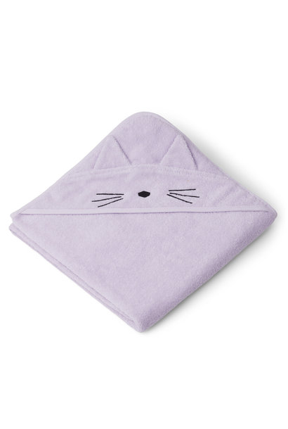 Augusta hooded towel cat light lavender