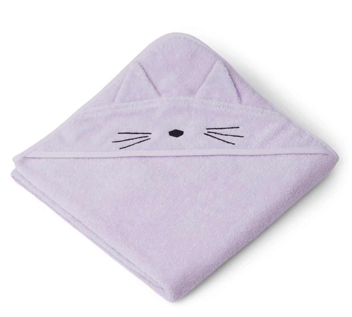 Augusta hooded towel cat light lavender-1