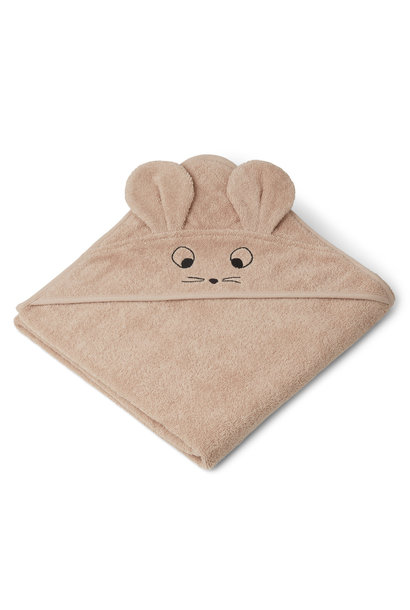 Augusta hooded towel mouse pale tuscany