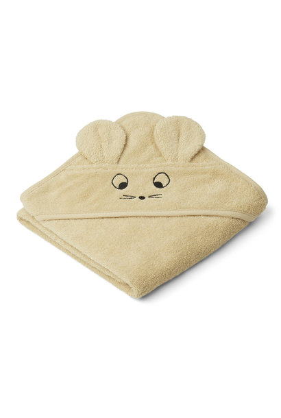 Albert hooded towel mouse wheat yellow