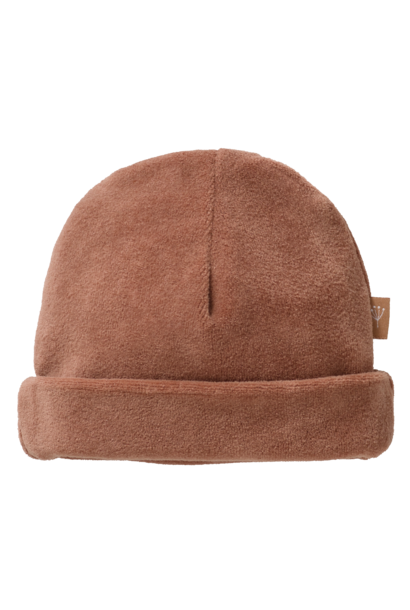 Hat velours tawny brown