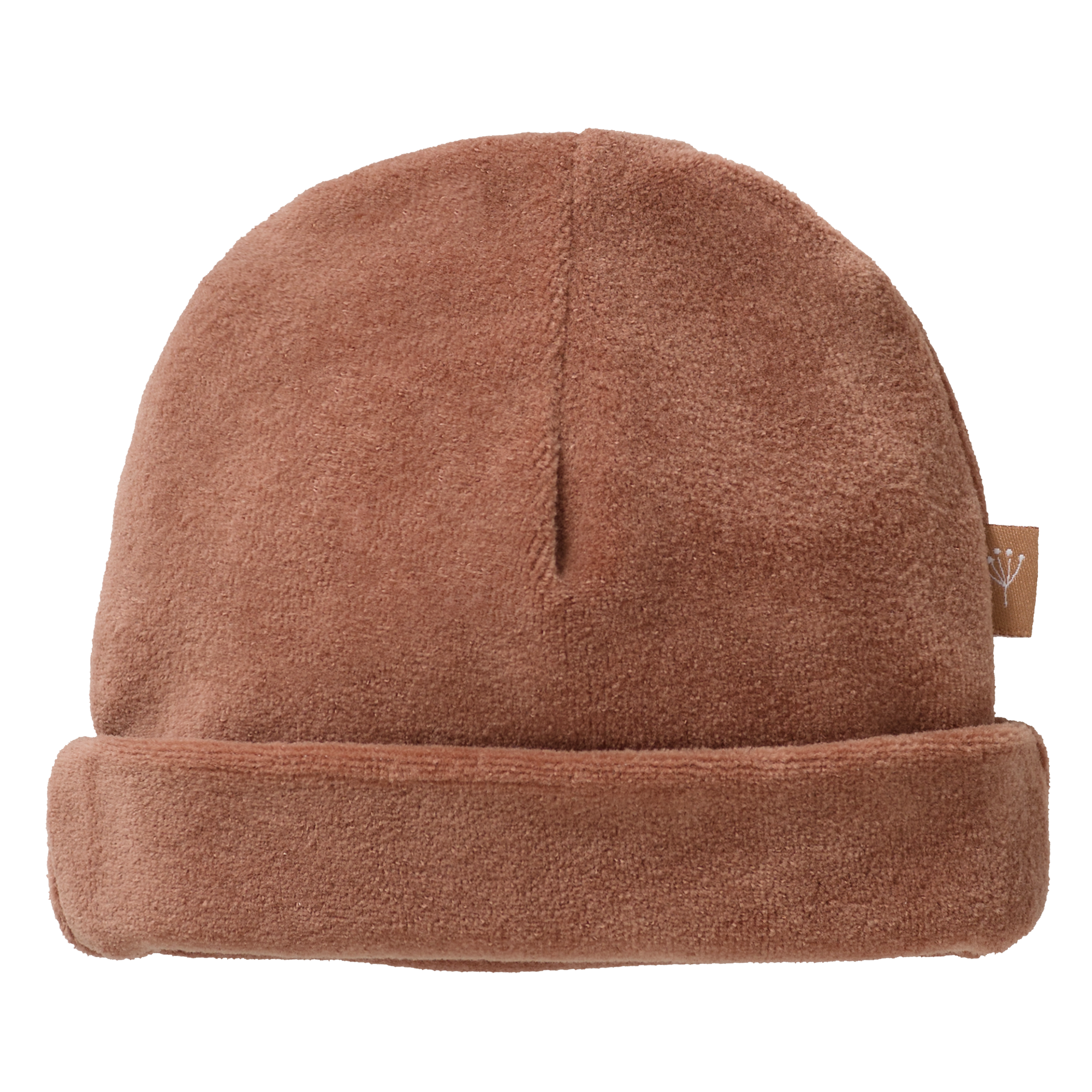 Hat velours tawny brown-1