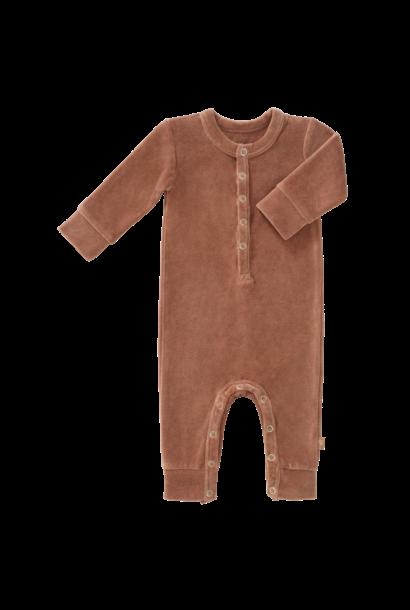 Pyjama velours tawny brown