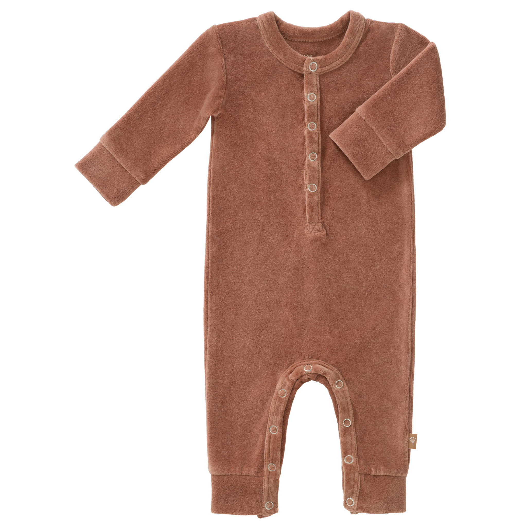 Pyjama velours tawny brown-1