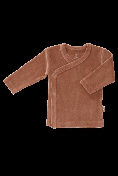 Cardigan velours tawny brown