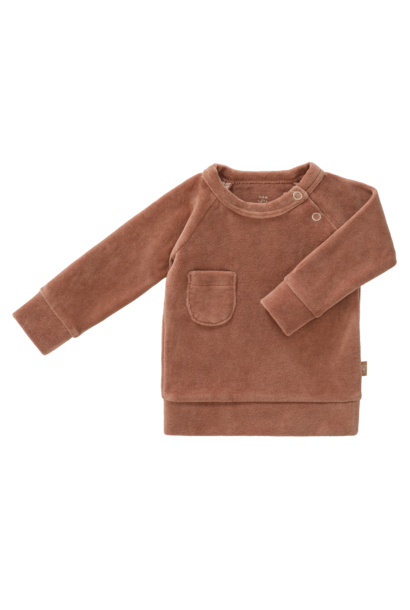 Sweater velours tawny brown