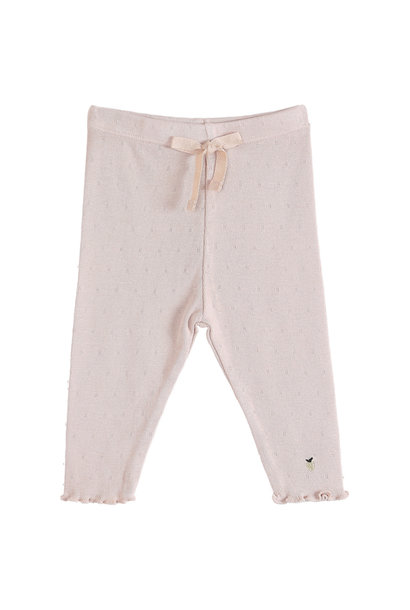 Trousers rose ajoure