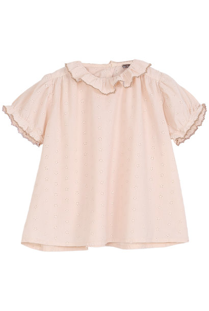 Blouse rose broderie baby