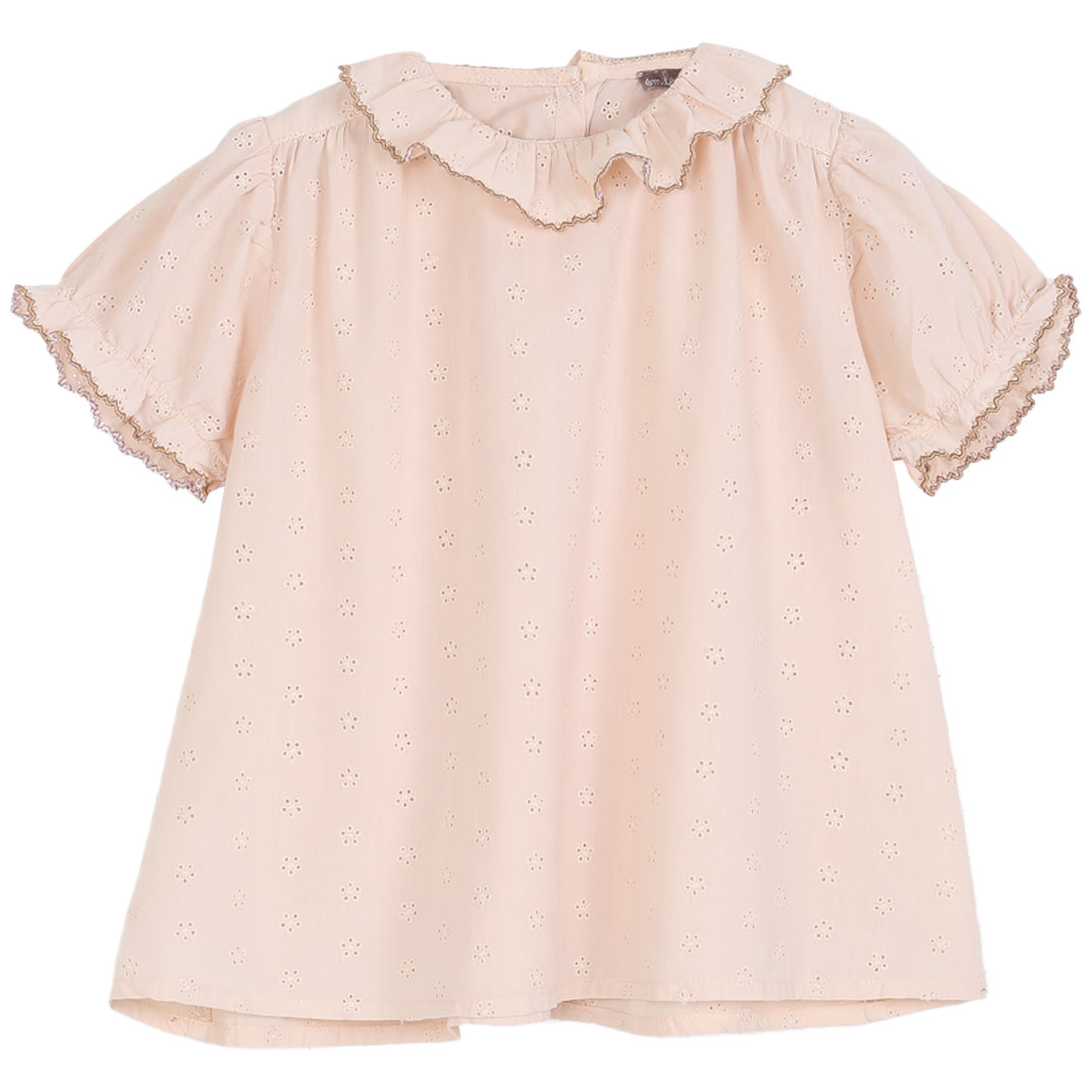 Blouse rose broderie baby-1