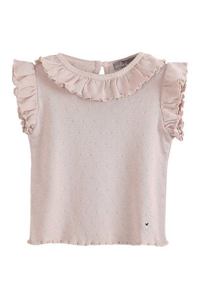 Tee shirt rose ajoure