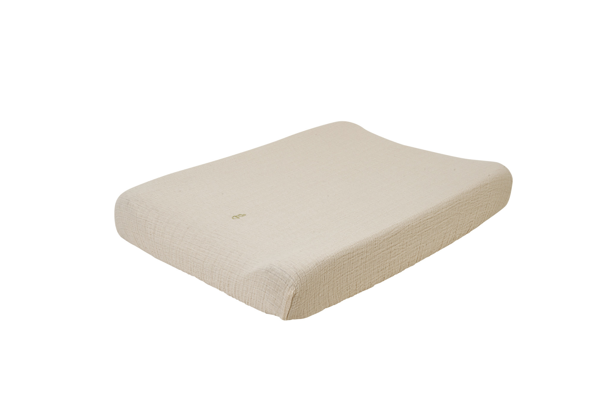 Eggshell muslin changing mat cover-1