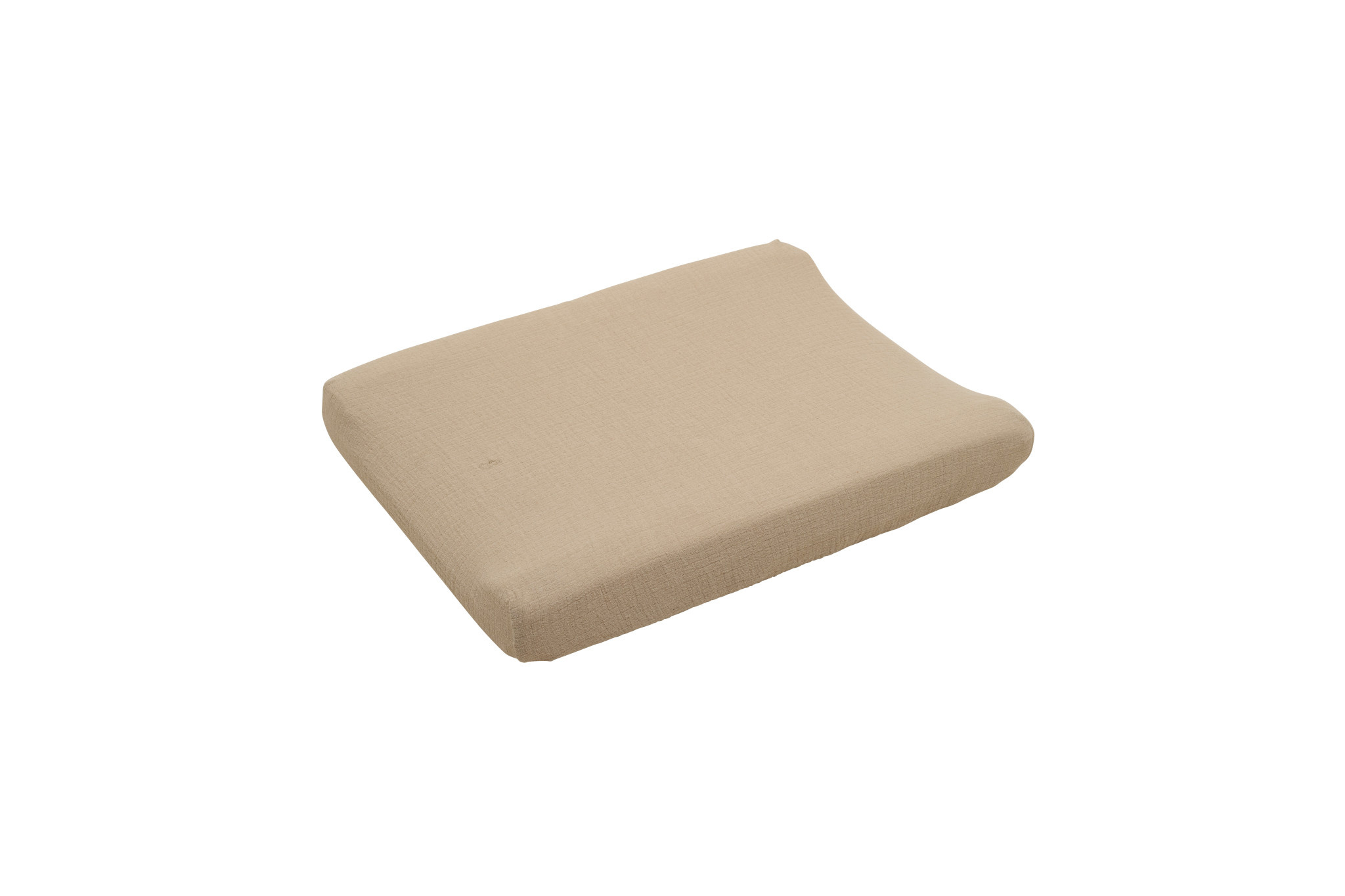 Olive muslin changing mat cover-1