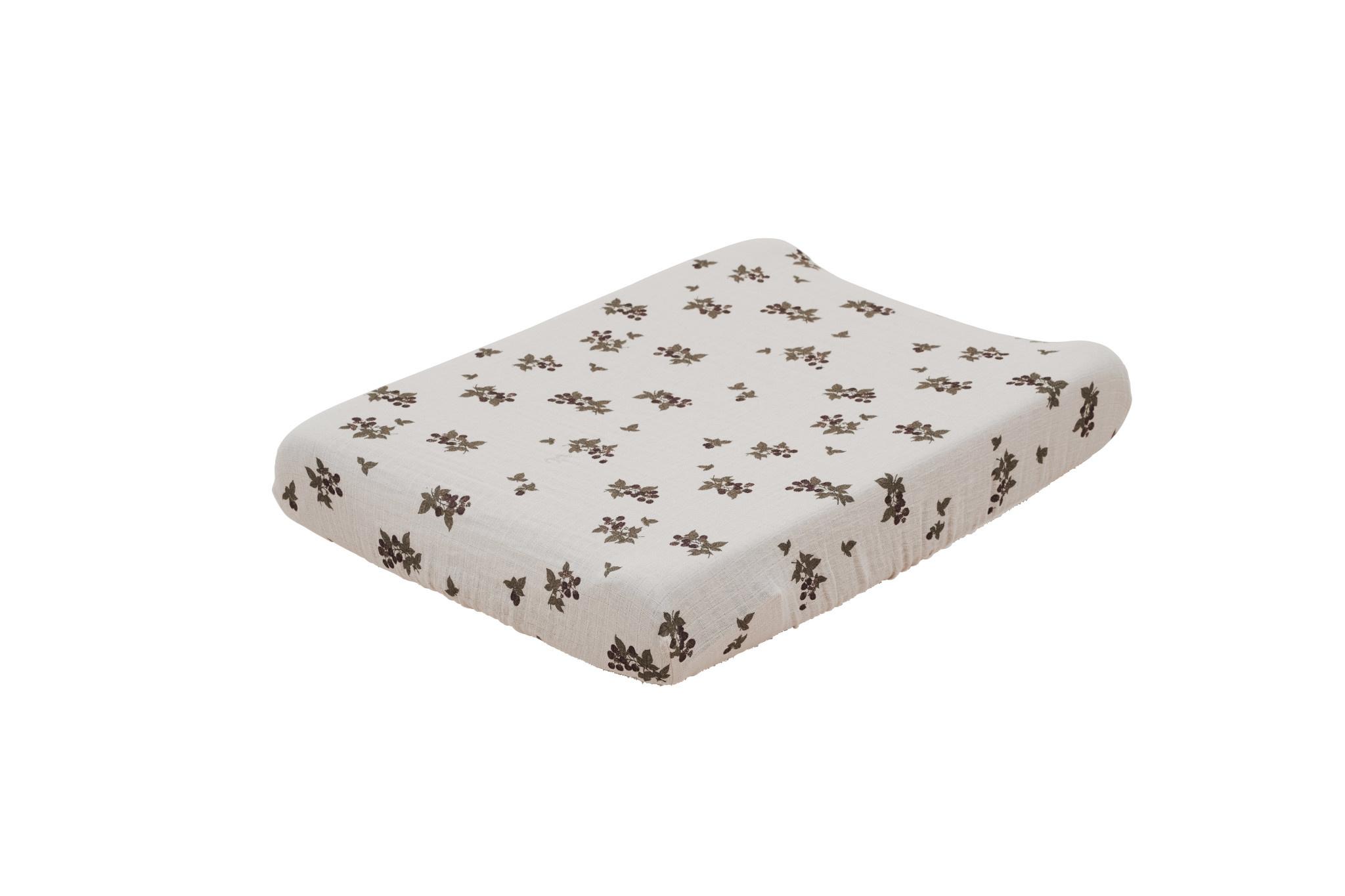 Blackberry muslin changing mat cover-1